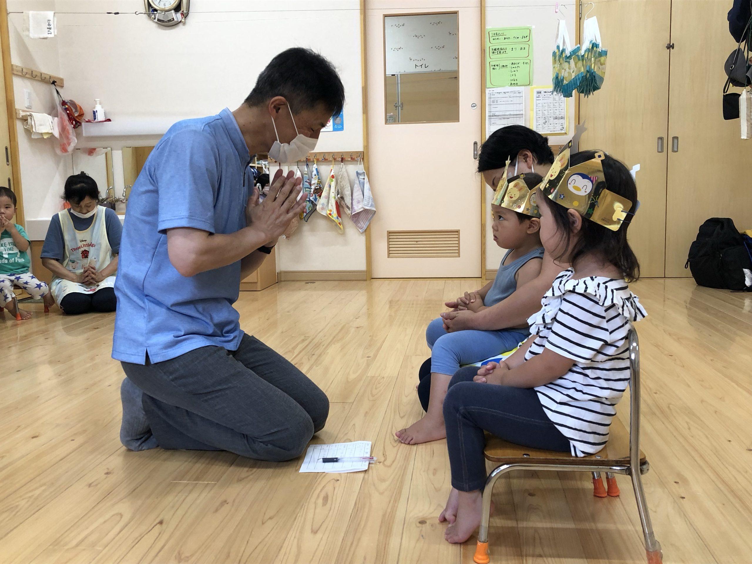7月生まれの誕生会(未満児クラス)